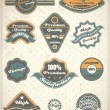 Collection of Premium and High Quality labels — Vector de stock #25463843