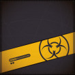 Close up of a biohazard symbol - Stock Vector