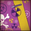 Danger warning-nuclear,bio hazard,toxic substance — 图库矢量图片