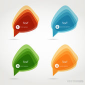 Set of colorful speech bubbles — 图库矢量图片