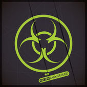 Close up of a biohazard symbol — Stock Vector