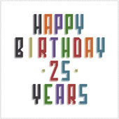 Vector illustration of happy birthday text — Stock Vector