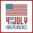 Vector de stock : Independence Day of America