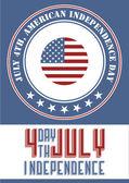 Amerika'nın bağımsızlık günü — Stok Vektör