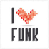 I love funk on white backround — Stock Vector