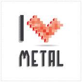 I love metal on white backround — Stock Vector
