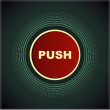 Stock Vector: Push the button labeled