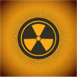 Stock Vector: Radioactive. Vector sign