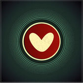 Tlačítko se srdcem — Stock vektor