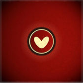 Button with heart — Stock Vector