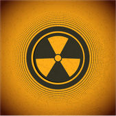 Radioactive. Vector sign — Stock Vector