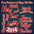 Merry christmas and new year labels, ribbons, icons — Vettoriale Stock #28187331