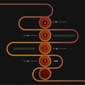 абстрактный фон с шаги и чисел. — Cтоковый вектор