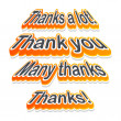 Stock Vector: Thank you labels