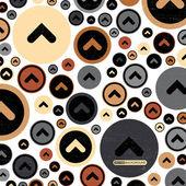 Abstract grunge hintergrund mit pfeilen im kreis. vektor-illustration — Stockvektor