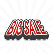 Big sale tag. vector — Stock Vector