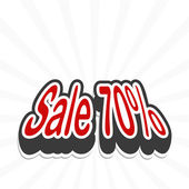 Sale tag. vector — Stockvector
