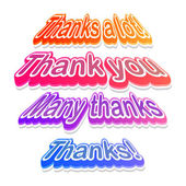 Colorful Thank you labels — Stock Vector