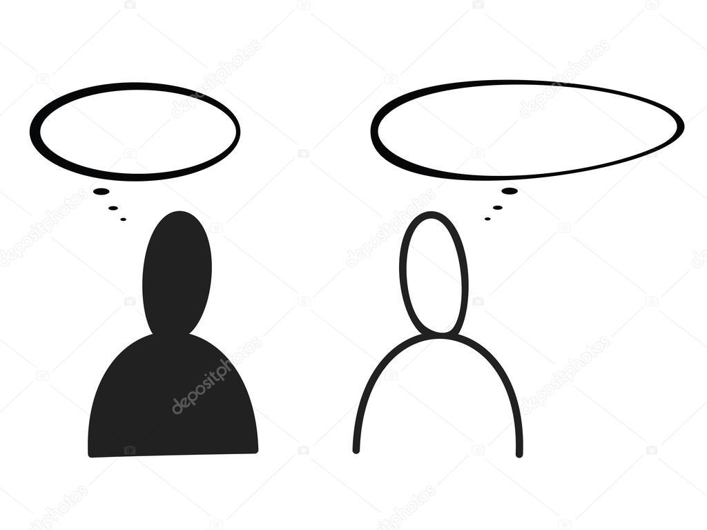 Due persone che parlano — vettoriali stock aleabievsasha
