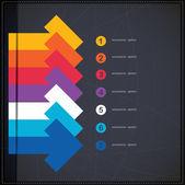 Banner de opciones infografías con flechas — Vector de stock