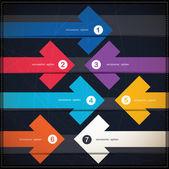 Banner di opzioni infografica con frecce — Vettoriale Stock