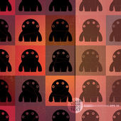 Retro background with monsters and place for text. Seamless pattern. vector — Stock Vector