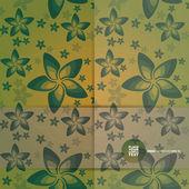 Decorative floral card. vector — Stock Vector