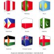 Set of nine flags — Stock Vector #30157109