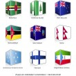 Set of nine flags — Stock Vector #30157217