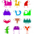 Set of cute monsters — Stockvektor