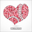 Red heart isolated on white. vector — 图库矢量图片