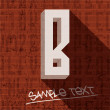 Stock Vector: Stylish letter B
