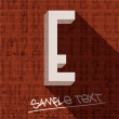Stylish letter E, on grunge brick wall — Stock Vector