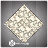 Decorative Tile with hearts. — Stock Vector