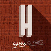 Stylish letter H — Stock Vector