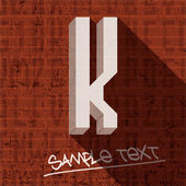 Stylish letter K — Stock Vector