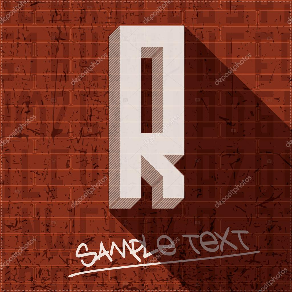 Stylish letter R   Stock Vector  31237871. Stylish letter R   Stock Vector   aleabievsasha  31237871