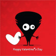 Cute monster with heart — Stock Vector #32033419