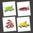 Fantastic cars — Stock Vector