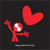 Szczęśliwy Walentynki karty. — Stockvector
