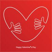 Cartão feliz do dia dos namorados — Vetorial Stock