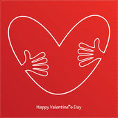 Happy valentine's day card — Stockvector