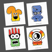 Colorful Monsters — Stock Vector