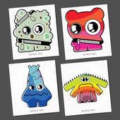 Monstres colorés — Vecteur