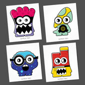 Kleurrijke monsters — Stockvector