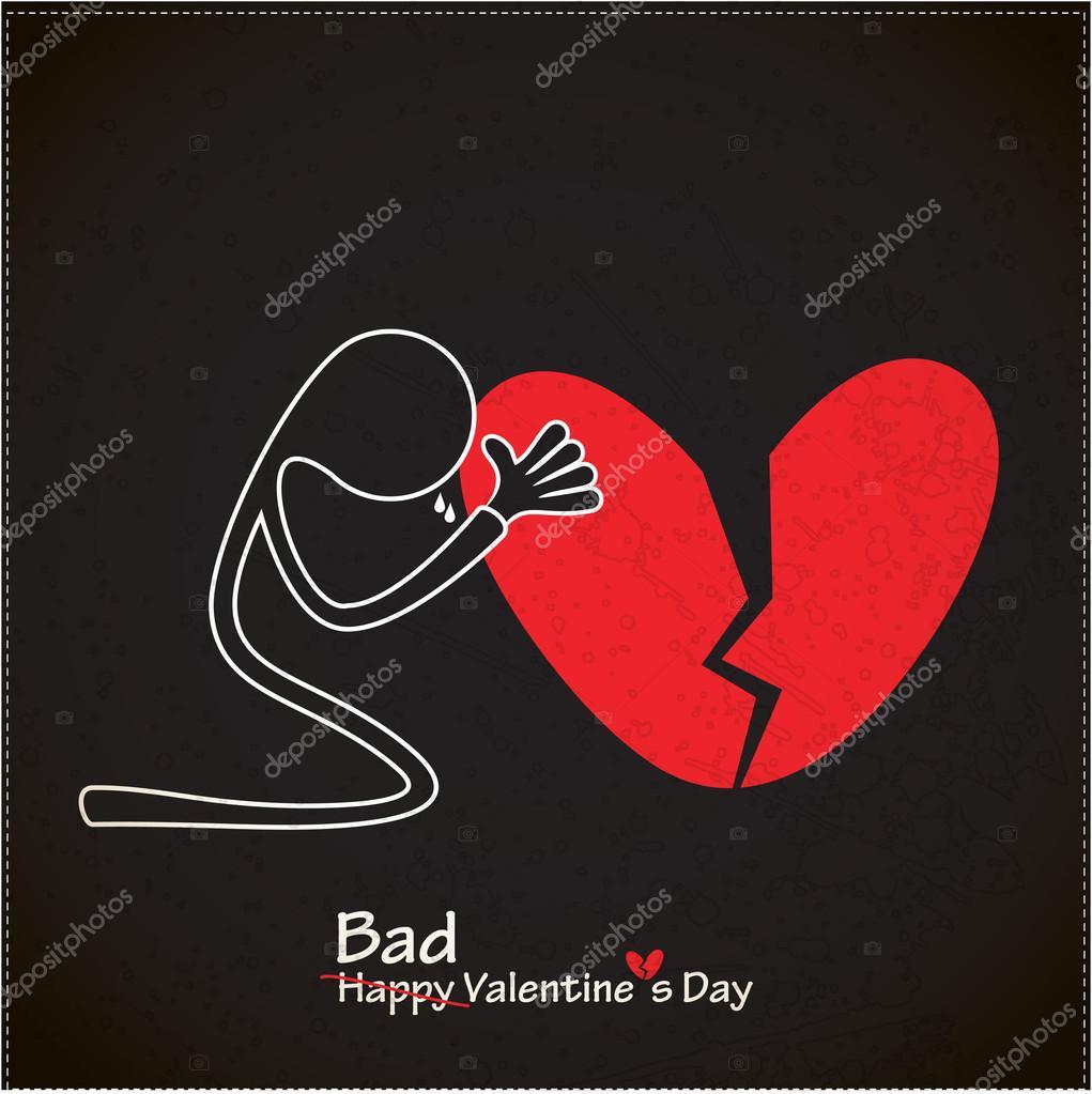mauvaise carte saint valentin avec c ur bris image vectorielle aleabievsasha 32033667. Black Bedroom Furniture Sets. Home Design Ideas