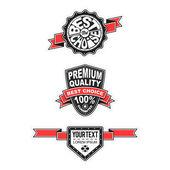 Premium kwaliteit en garantie label collectie — Stockvector