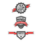 Premium quality and guarantee label collection — Vector de stock