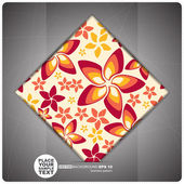 Decorative Tile with flowers. — Stock Vector