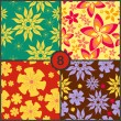 Set of  floral seamless patterns — Stock vektor